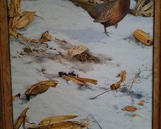 """Weisman Weiler, Pheasants, o/b, 24"""" x 18"""""""