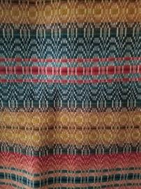 Large hand woven coverlet.