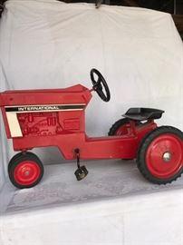 International Harvester Pedal Tractor restored