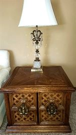 Console end table