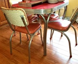 Vintage six piece chrome kitchen set