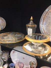 Elegant Gold Trimed Serving Pieces