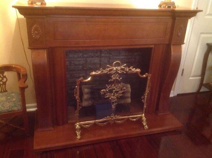 Beautiful free standing fireplace