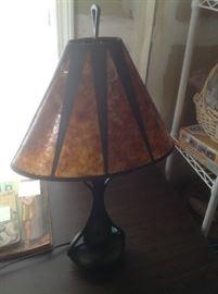 Pair of Mica lamps