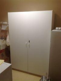 Large white cabinet