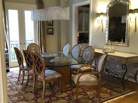 Inner loop luxury townhome estate sale dining room