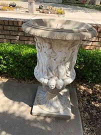 Ornate concrete planter