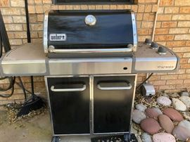 Weber professional grill that is clean as a whistle