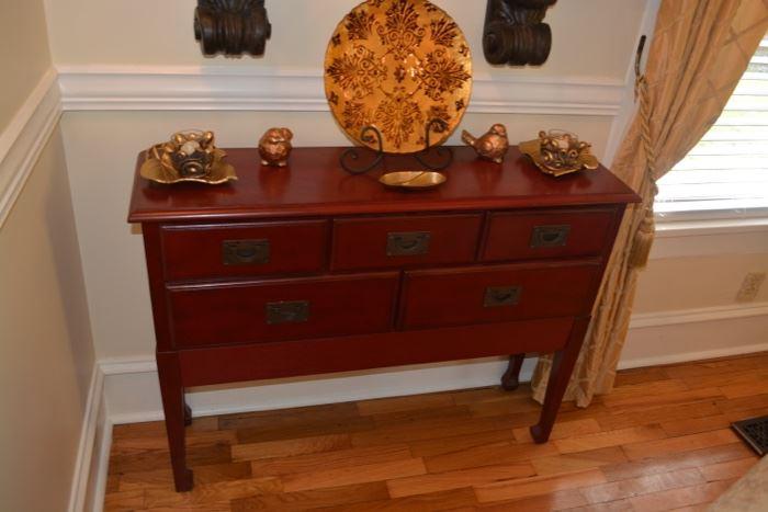 Asian Style Cinnabar Sofa Table / Small Buffet
