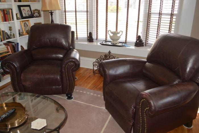 Nice leather club chairs