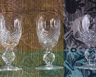 4 Waterford XL Cordial Glasses.