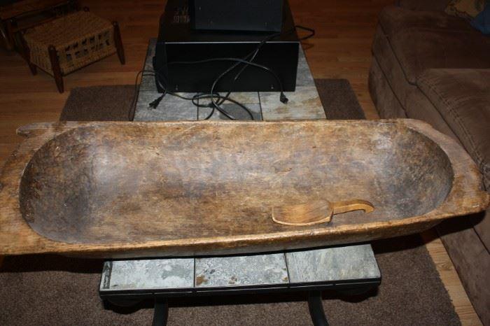 Large authentic antique Dough Bowl