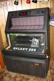 Working Galaxy 200 Juke Box Loaded with 45's Records
