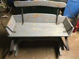 Antique Buggy or buckboard seat