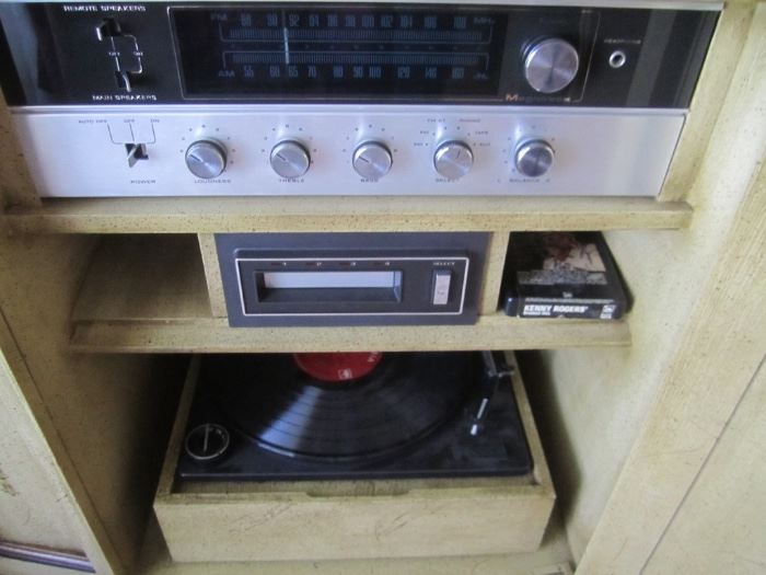 BUILT IN STEREO SYSTEM AND IT WORKS
