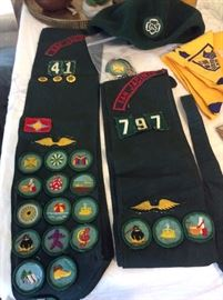 Girl Scout Sashes and Badges