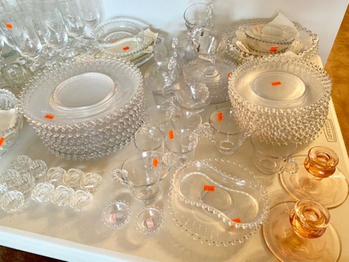 Complete set of Candlewick with multiple serving pieces