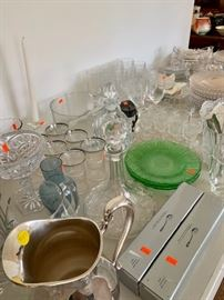Wide selection of glassware and silverplate!