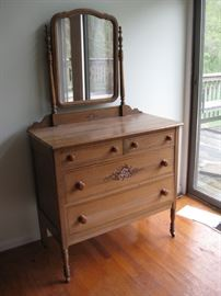 Antique dresser (Set of 4 pieces) These pieces are very old and slightly smaller in scale than similar modern pieces.