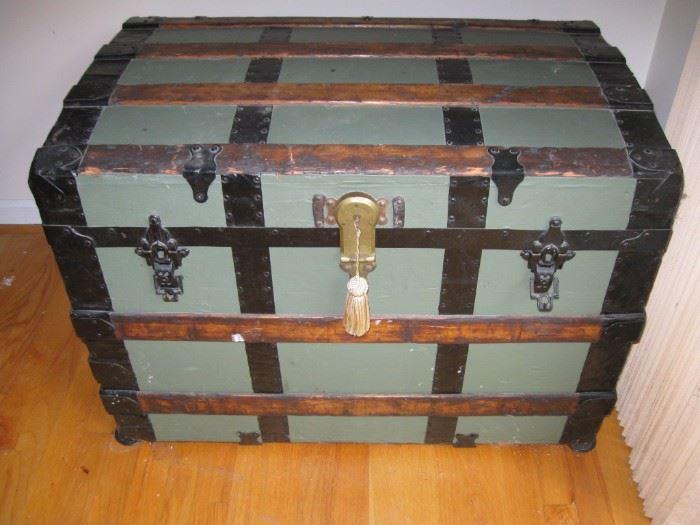 Antique trunk.  Has lift out shelf.