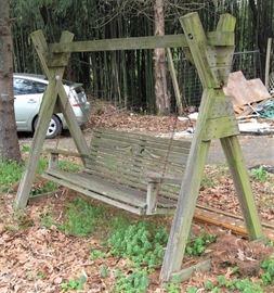 Garden swing wood