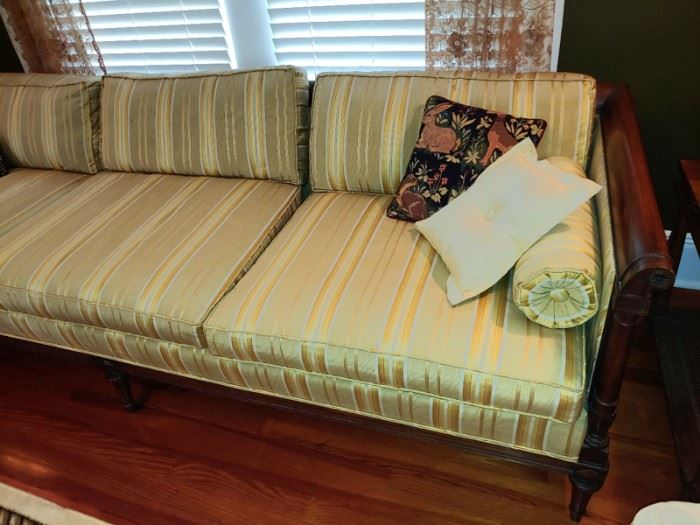 Vintage French Art Deco Sofa by Sleepy Hollow Gerst Regency Neoclassic ( amazing condition no one was allowed to sit on this gorgeous sofa)