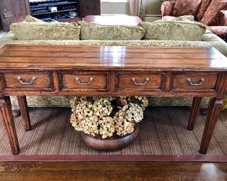 4-drawer console/sofa table