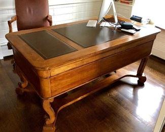 Executive Leather Top Desk