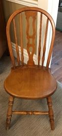 Stickley maple chair. Marked Stickley Brothers, Grand Rapids.