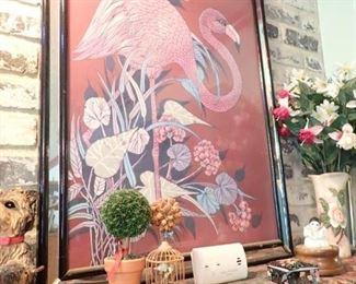 FRAMED ART PINK FLAMINGO