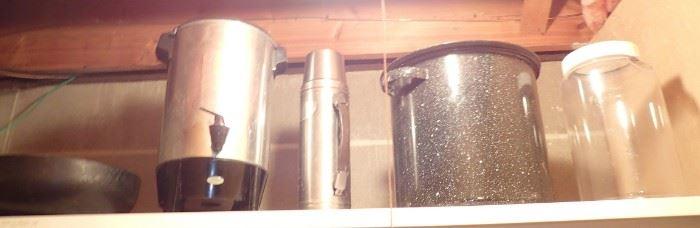 COFFEE / ENAMEL LARGE POT
