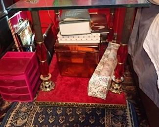 VERY ORNATE END TABLE