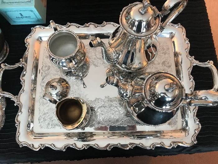 5 piece Sterling Silver silver plate