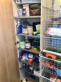 Housewares. The storage cabinet and the wire basket rack are both for sale