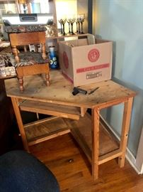 This is a corner work desk.  Perfect for art or crafts