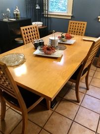 Contemporary Danish Modern style dining table with  4 chairs