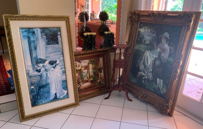 Painting on the left is sold.