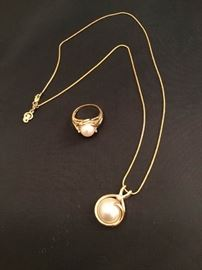 14K Necklace and Ring Set
