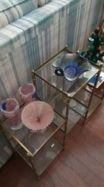 Carnival glass and depression glass