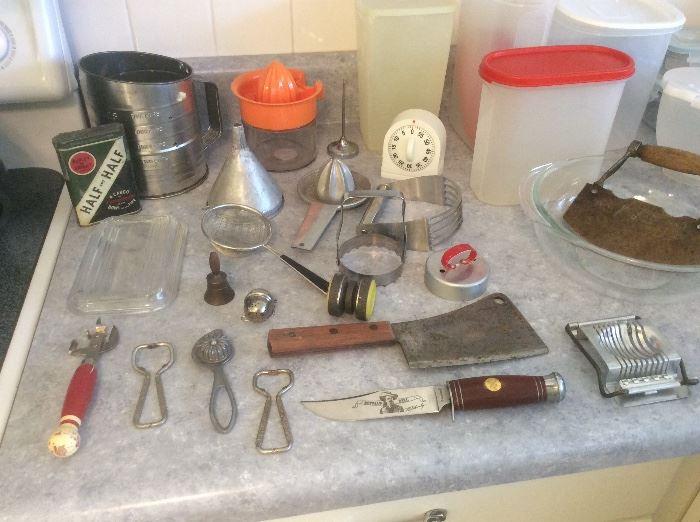 Miscellaneous vintage kitchenware