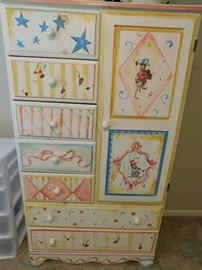 Hand painted child's chest