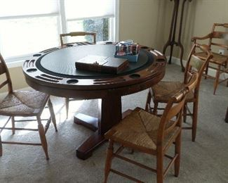 great poker table - these chairs are being sold separate from the poker table