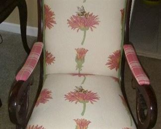 lovely upholstered rocking chair