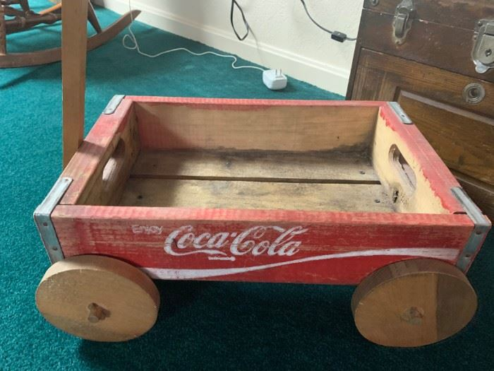 Vintage Coca Cola Wood Wagon!
