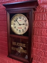 Vintage 70's Coca-Cola Regulator Wall Clock!