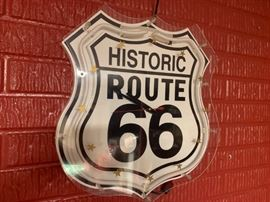Historic Route 66 Neon Sign/wall Clock!