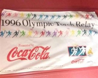 1996 Olympic Torch Relay Coca Cola Banner!