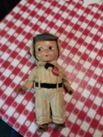 Coca Cola Original 1950s Buddy Lee  Delivery Boy Doll!