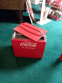 1950s Coca Cola  Cavalier Cooler Chest w/Lid!
