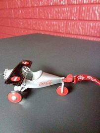 Coca Cola Advertising Plane Pedal Toy Replica!